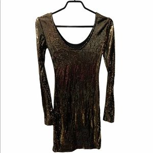 Dynamite Sequinned Bodycon Dress